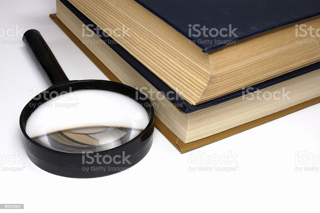Books on a table. stock photo
