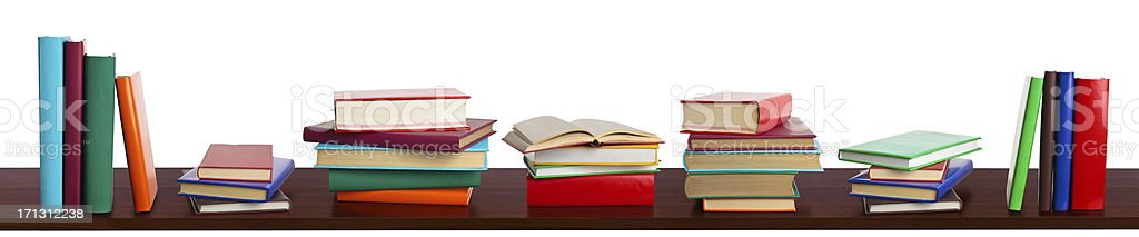 Books on bookshelf. royalty-free stock photo