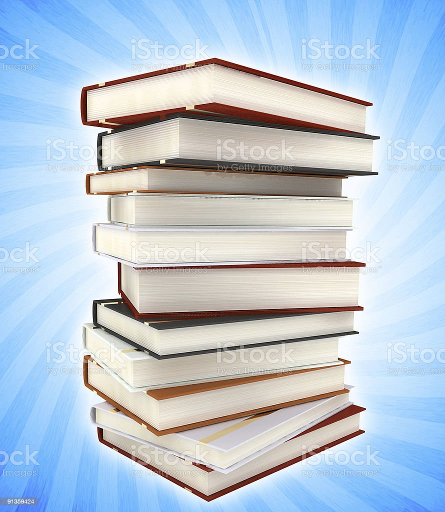 books on colored background royalty-free stock photo