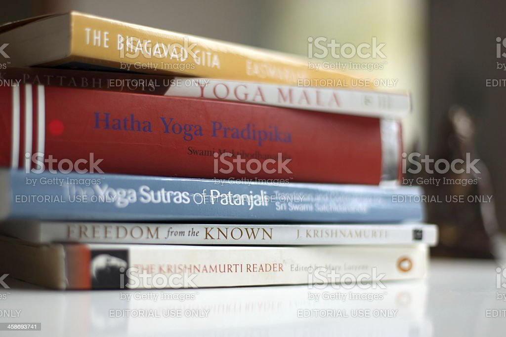 Books On Indian Philosophy And Yoga Stock Photo Download Image Now Istock
