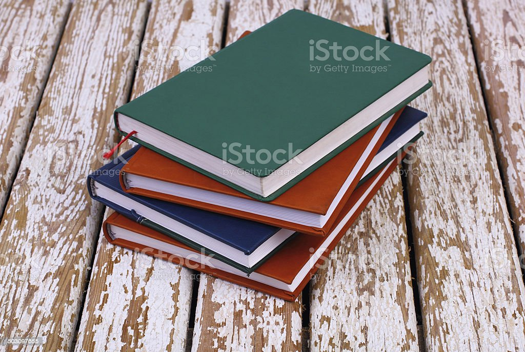 Books on old  table royalty-free stock photo
