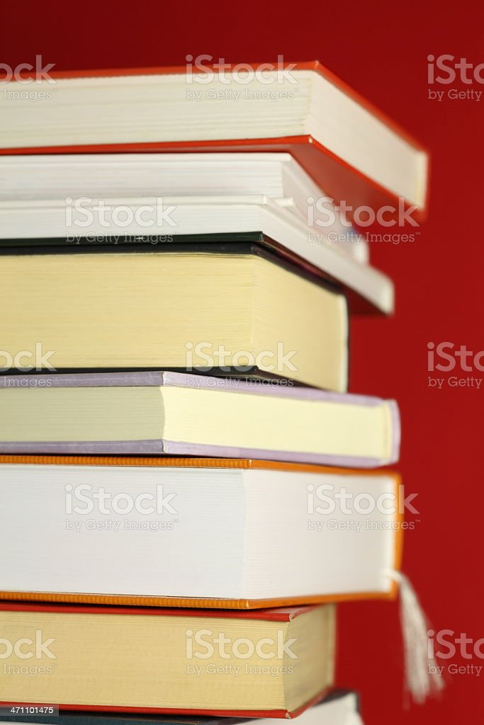 Books on Red royalty-free stock photo