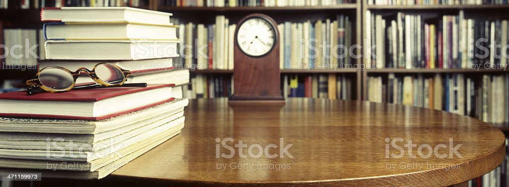 Books on Round Table royalty-free stock photo