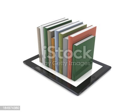 istock Books on Tablet PC 184974380