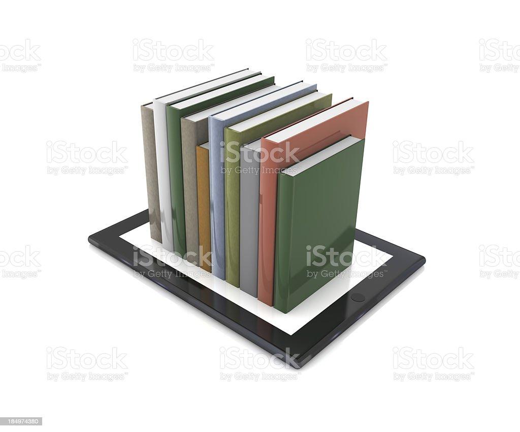 Livros em Tablet PC - foto de acervo
