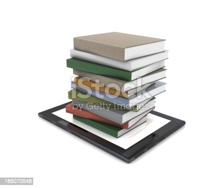 istock Books on Tablet PC 185070548