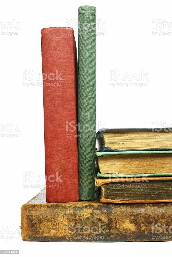 Books on White stock photo