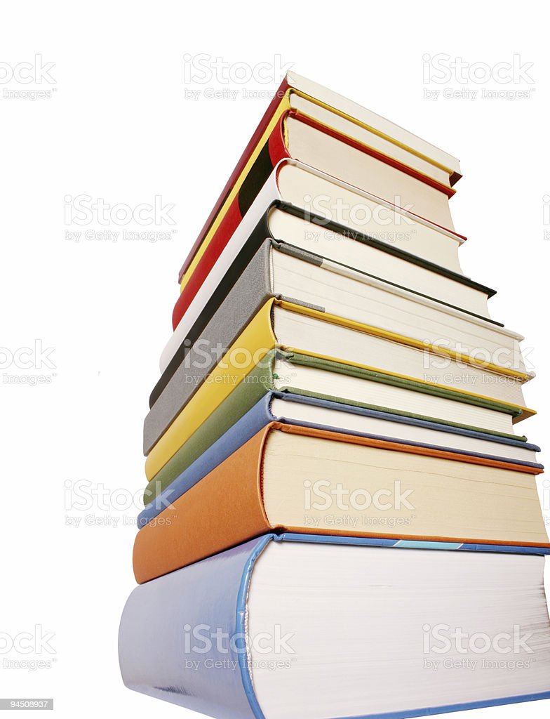 Books pile 01 royalty-free stock photo