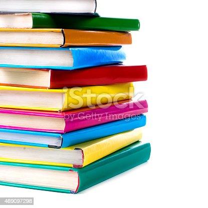 453684295istockphoto Books pile isolated on white 469097298