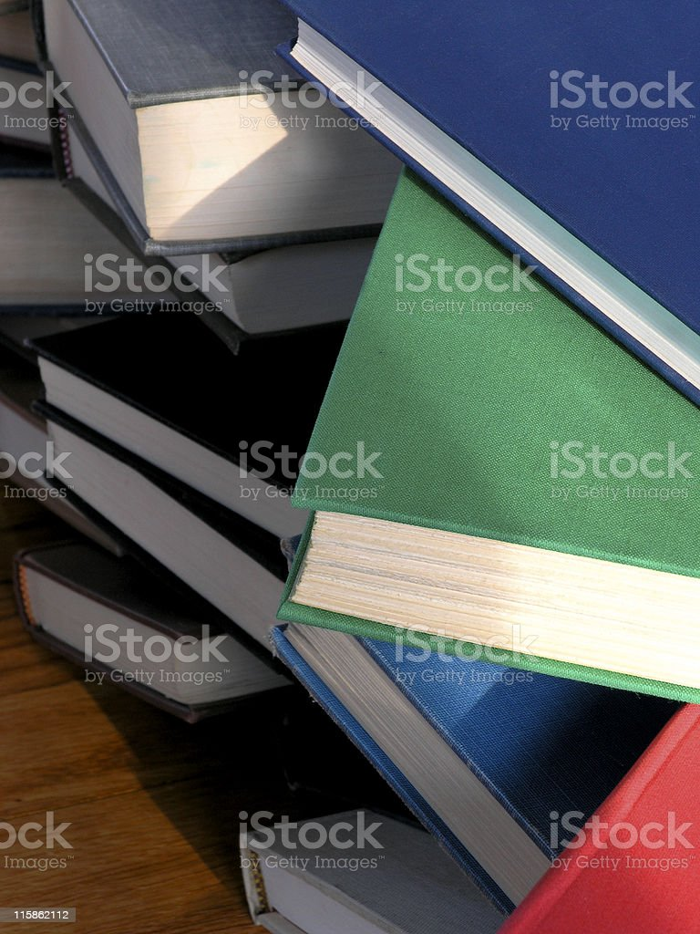 Books Piled Up 2 royalty-free stock photo