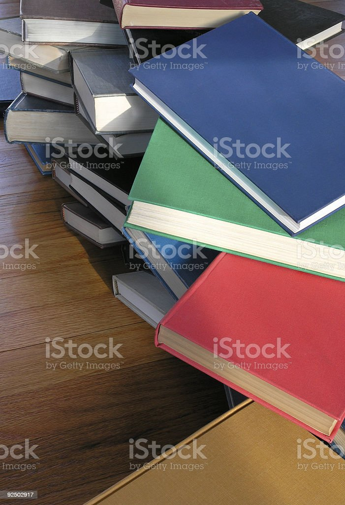 Books Piled Up royalty-free stock photo
