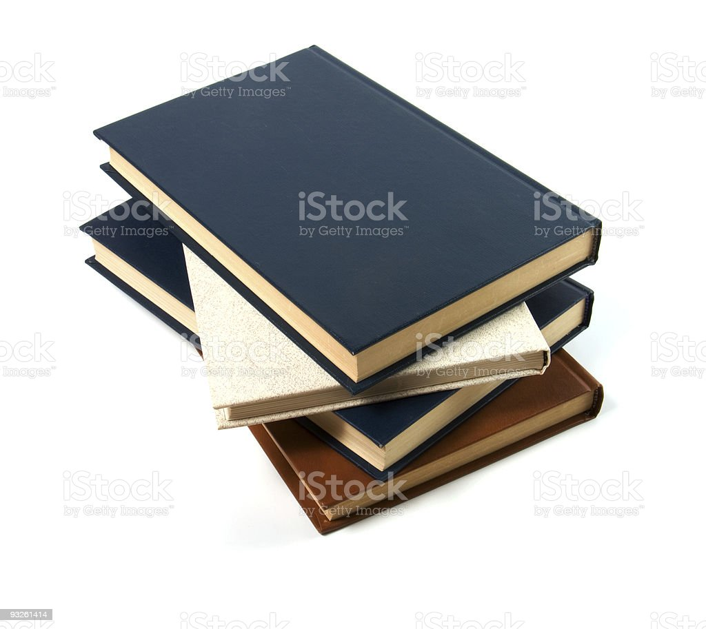 books stack isolated on white royalty-free stock photo