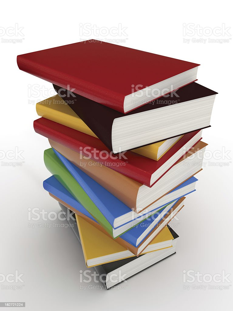 Books stack stock photo