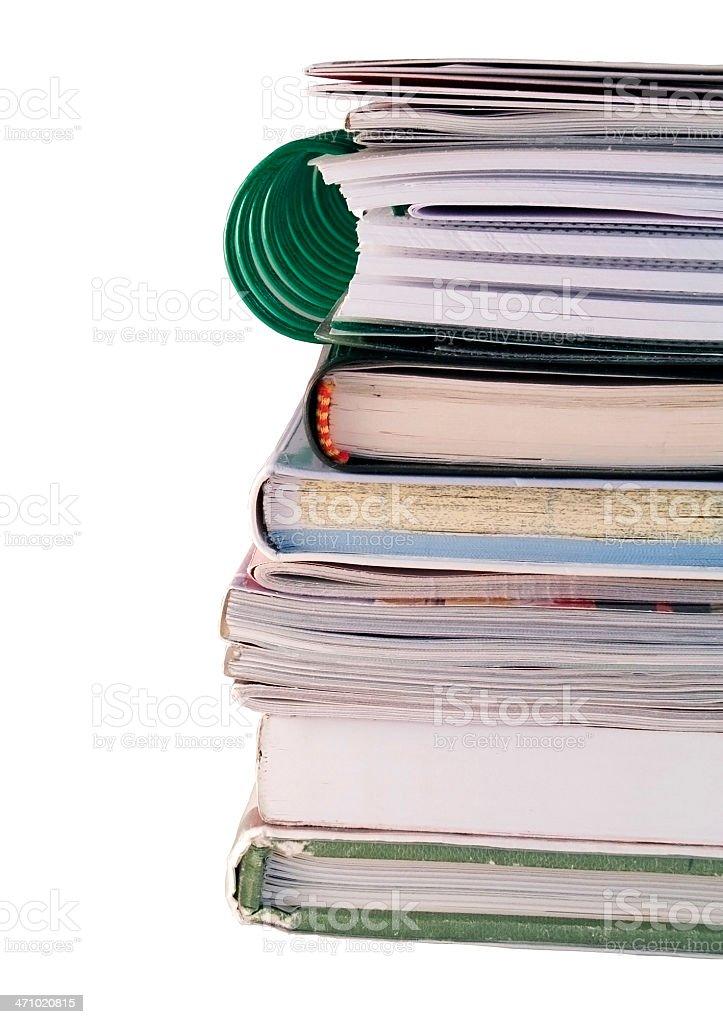 Books stack stock photo
