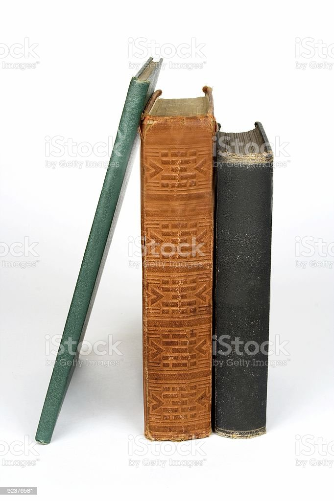 Books Standing Up royalty-free stock photo