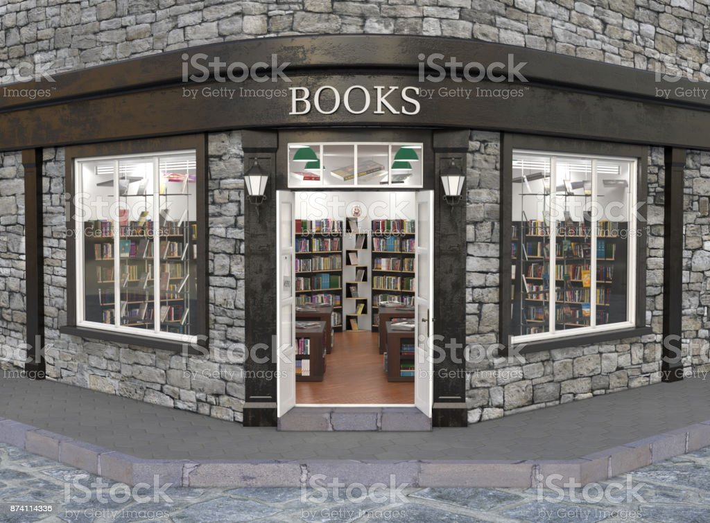 Books store exterior stock photo