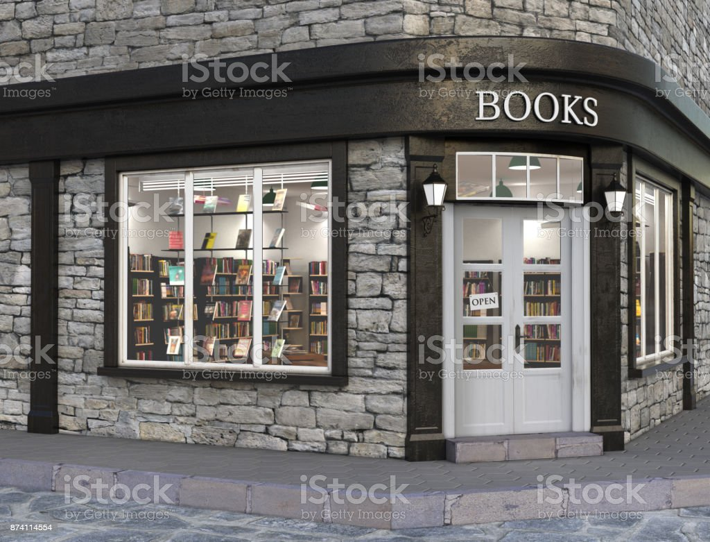 Books store exterior stock photo
