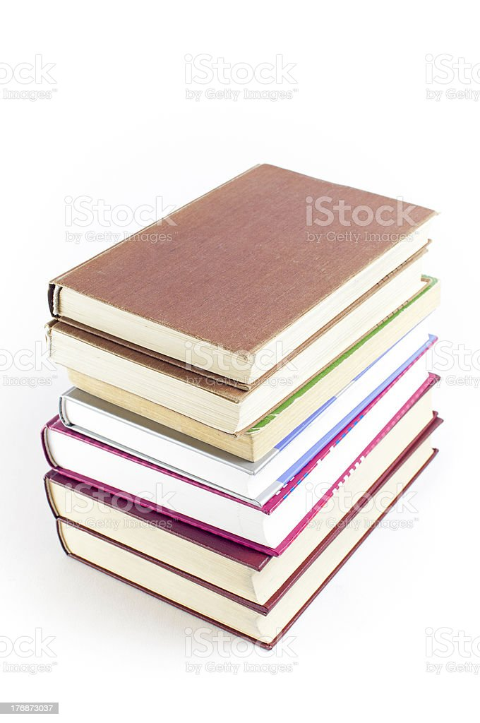 Books tower royalty-free stock photo
