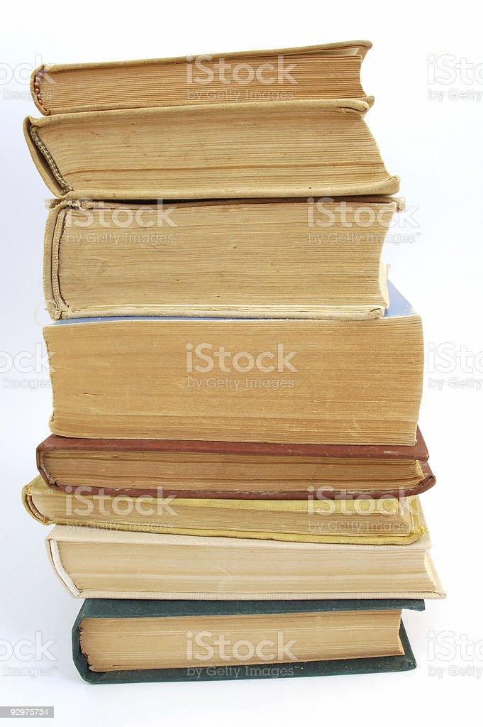 books tower stock photo