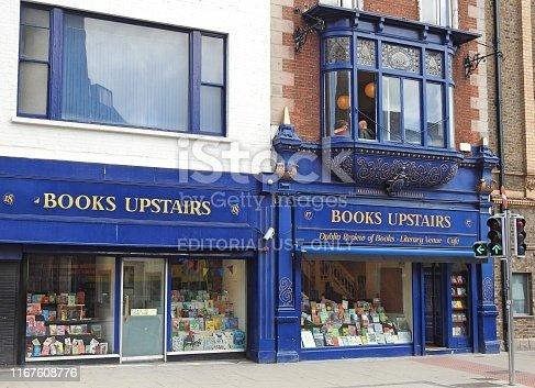 istock Books Upstairs 1167608776