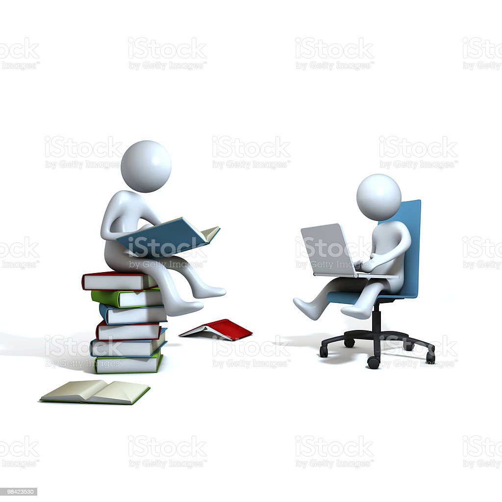 books vc computer royalty-free stock photo