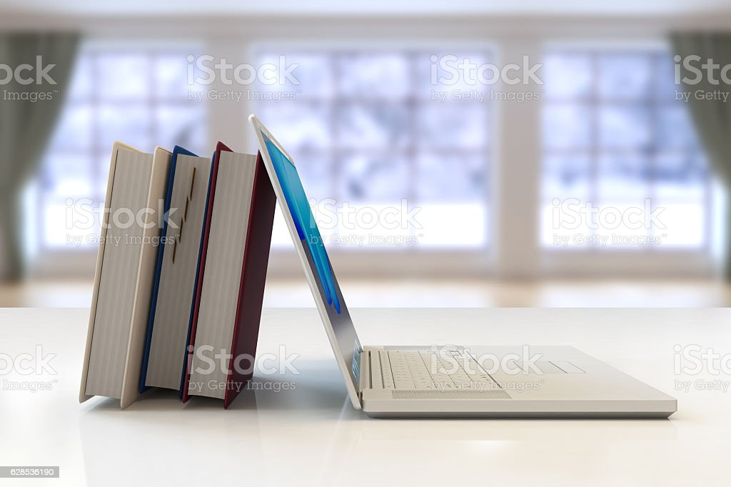 textbooks vs notebook computers