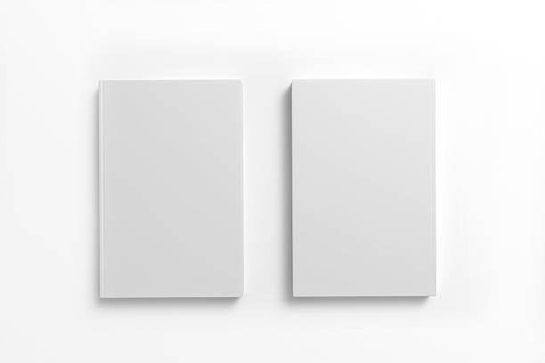 livro com capa em branco sobre fundo branco - brochura - fotografias e filmes do acervo