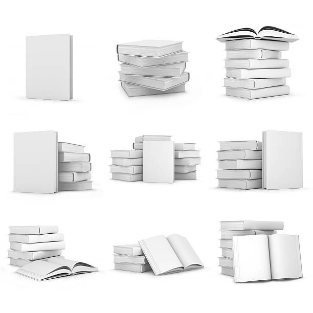com capas de livros em branco - brochura - fotografias e filmes do acervo