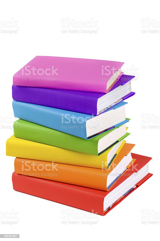 Books - With Clipping Path royalty-free stock photo