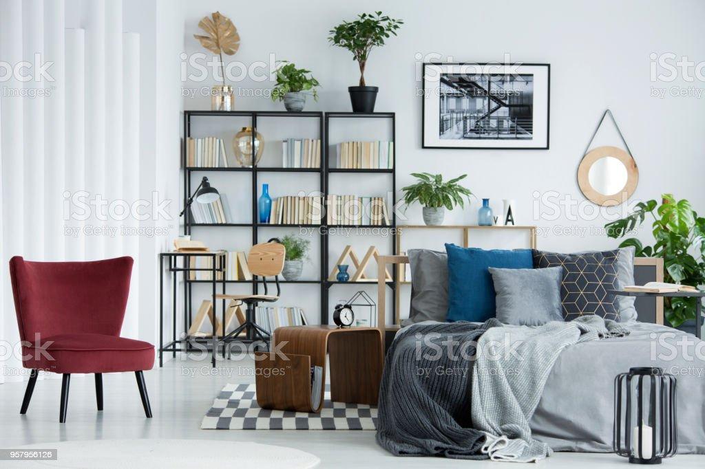 Bookshelf In Bedroom Stock Photo Download Image Now Istock