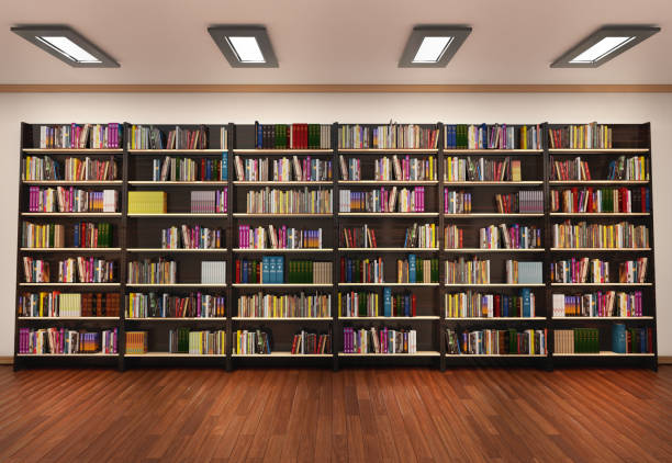 bookshelf in book store - bookstore stock pictures, royalty-free photos & images