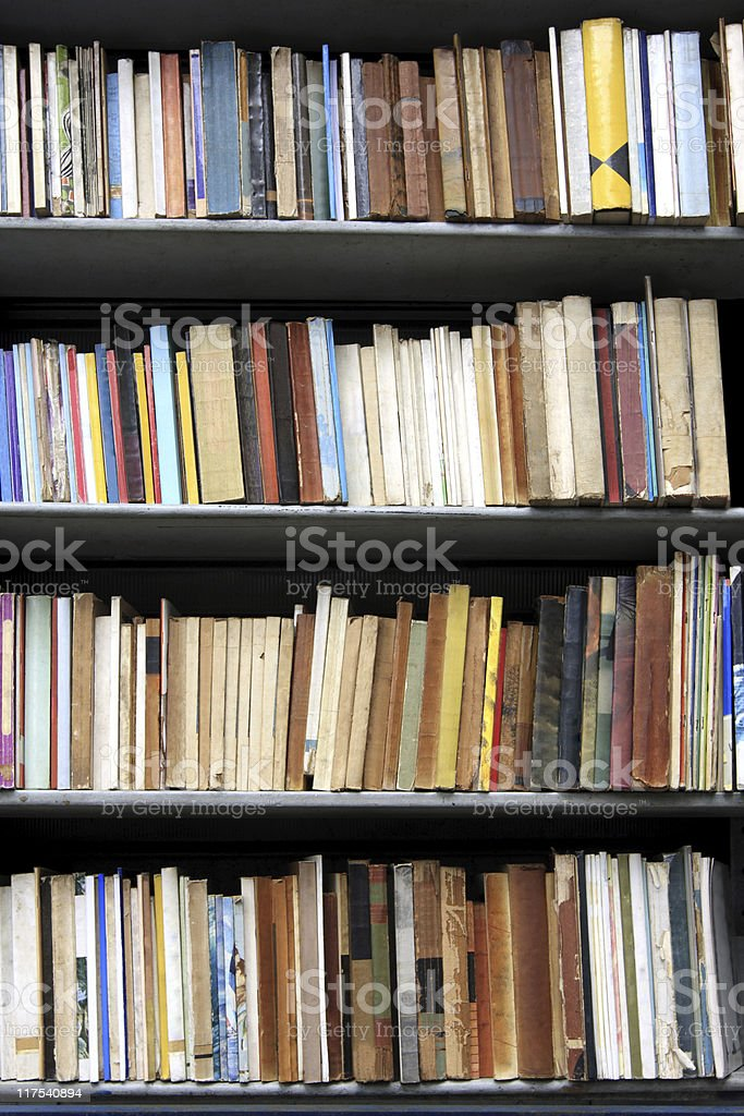 Bookshelf - old books royalty-free stock photo