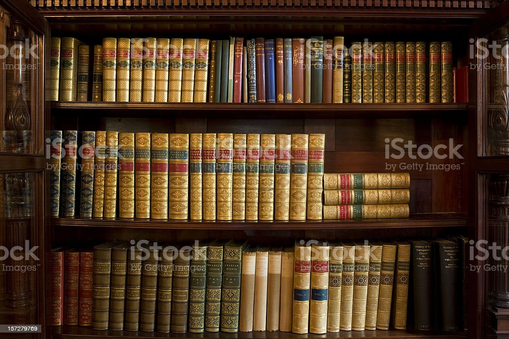 Bookshelf royalty-free stock photo