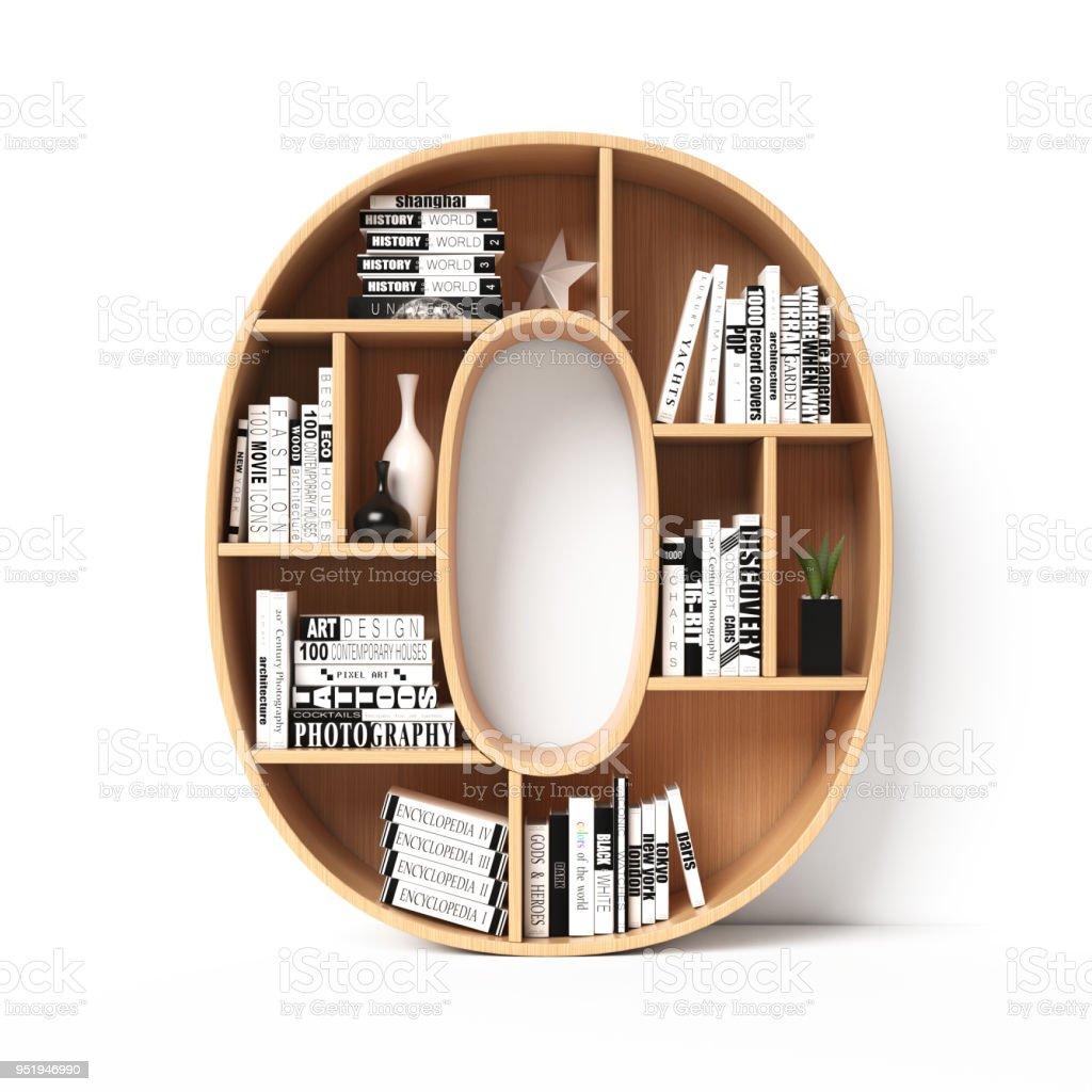 Bookshelves 3d Font Alphabet In The Form Of Book Shelves Mockup Number