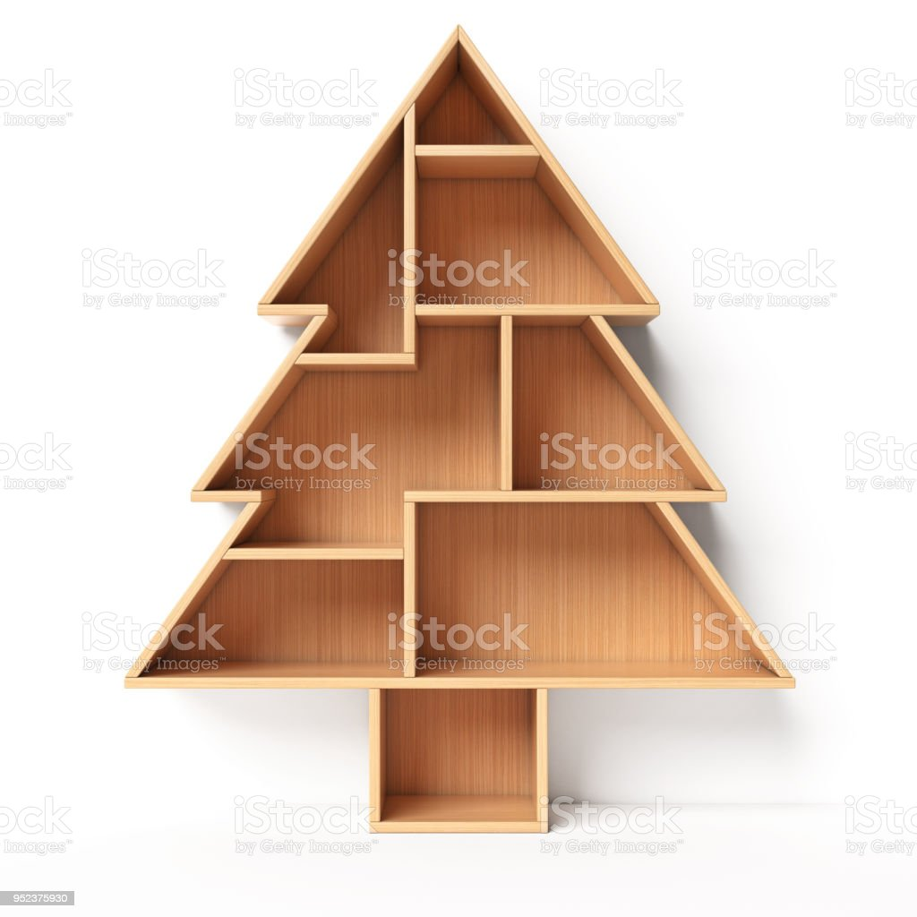 Bookshelves In The Shape Of Christmas Tree Xmas Present Book Shelf