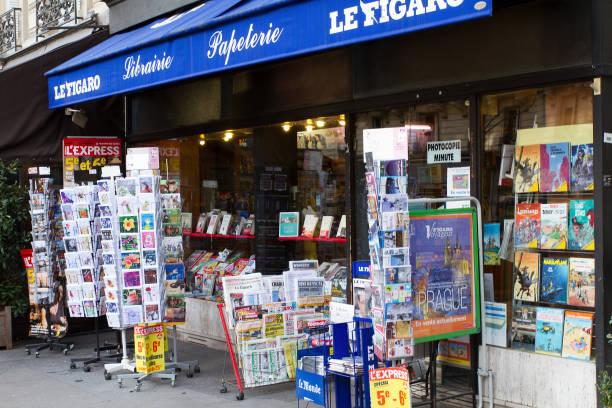 Bookshop Parisian stock photo