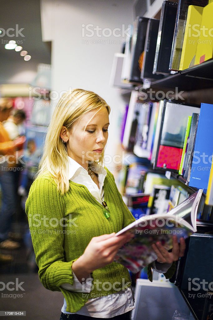 Bookstore browsing royalty-free stock photo