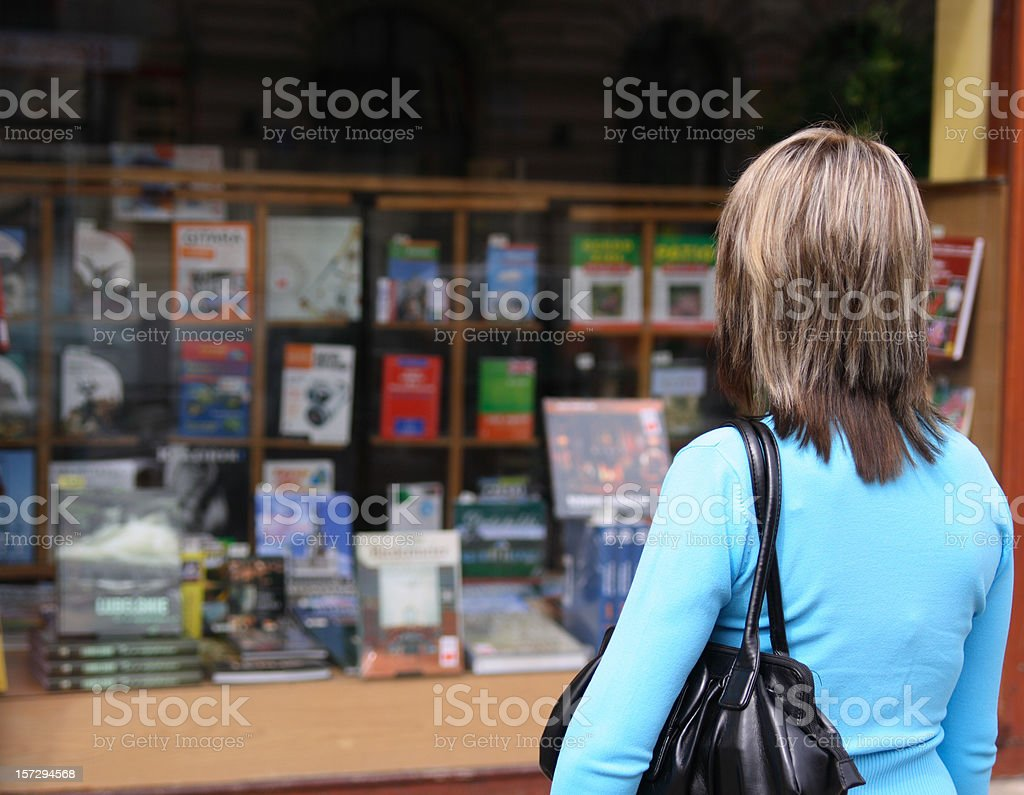 Bookstore display. royalty-free stock photo