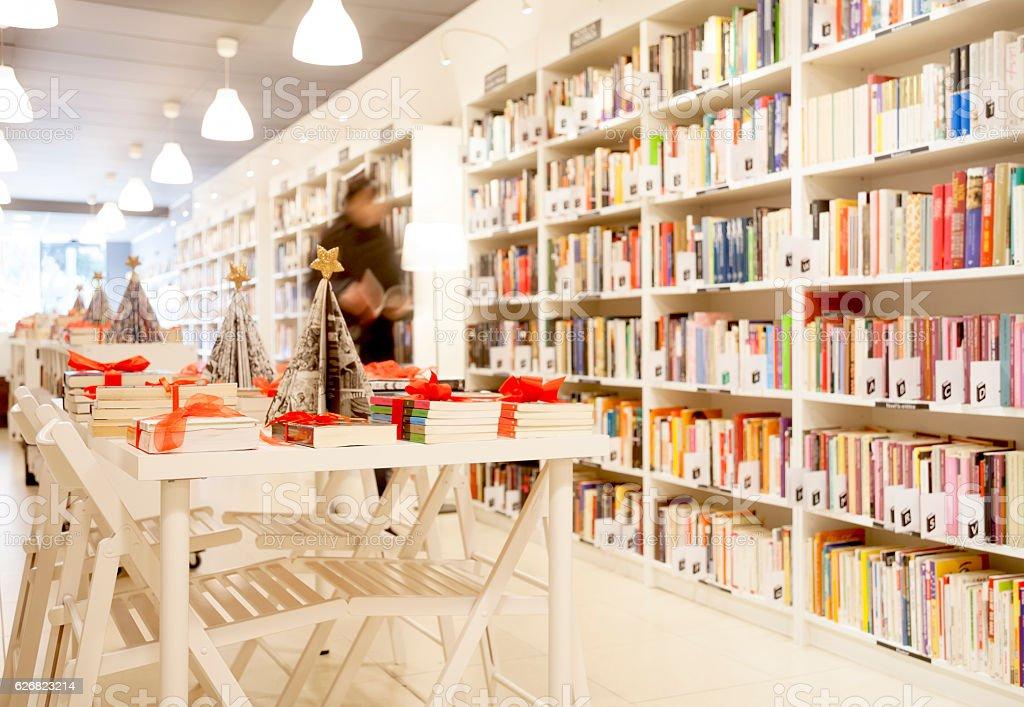 Bookstore indoors stock photo