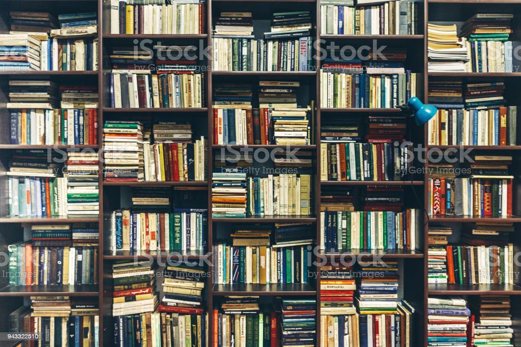 Buchhandlung. Öffentliche alte Bibliothek. Kreativität-Konzept Lizenzfreies stock-foto