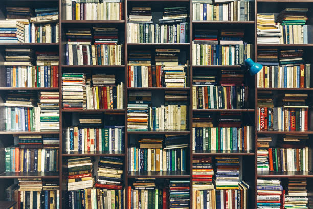 librería. antigua biblioteca pública. concepto de creatividad - biblioteca fotografías e imágenes de stock