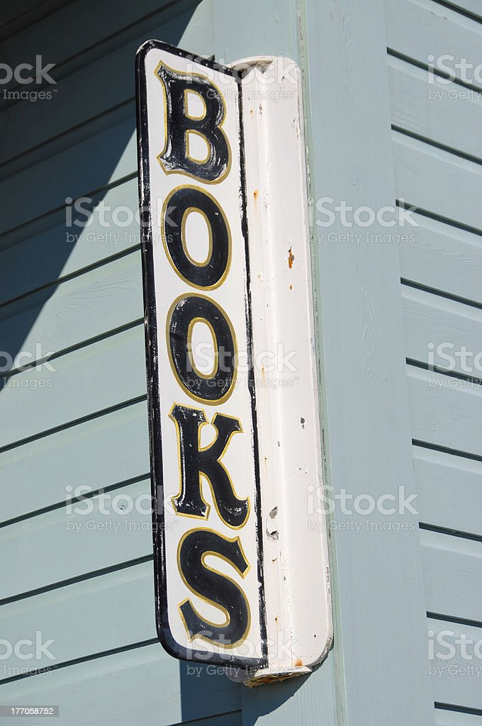 Bookstore Sign royalty-free stock photo