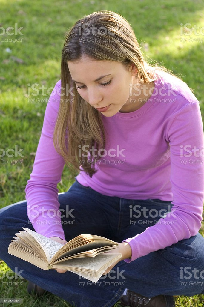 Bookworm 3 royalty-free stock photo