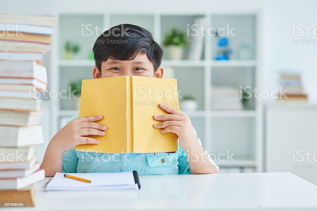 Bookworm stock photo