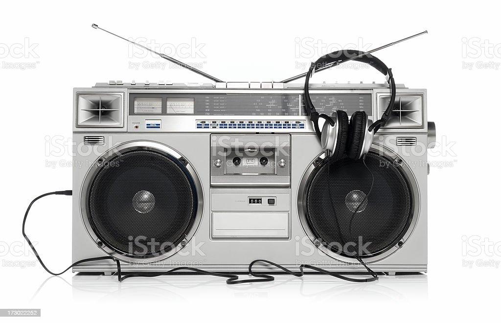 Boom box and headphone royalty-free stock photo