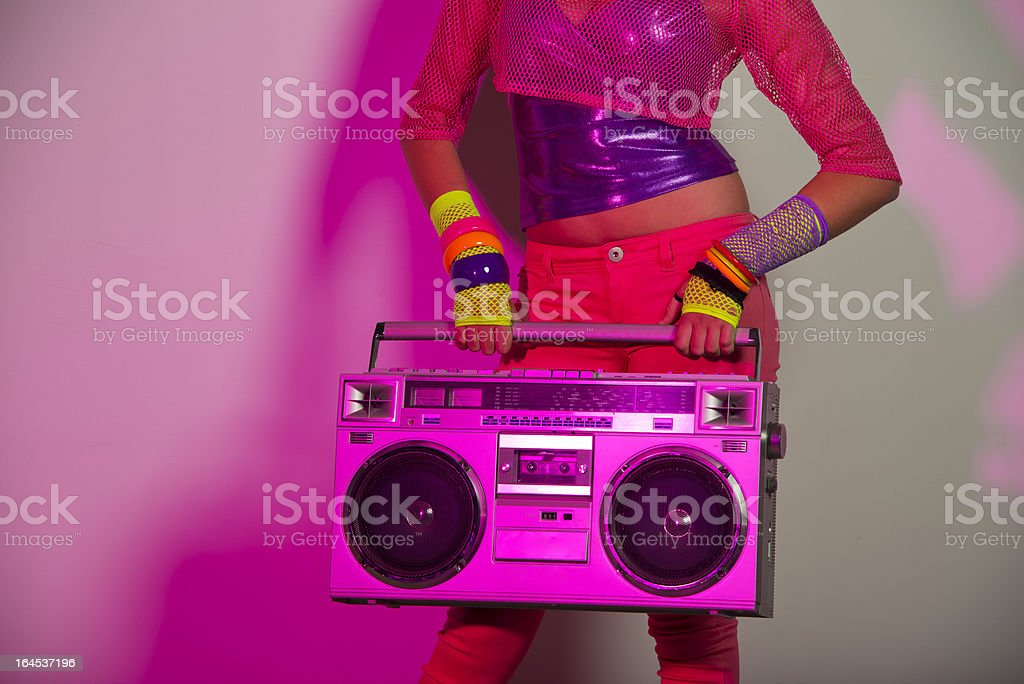 Boom box Party stock photo