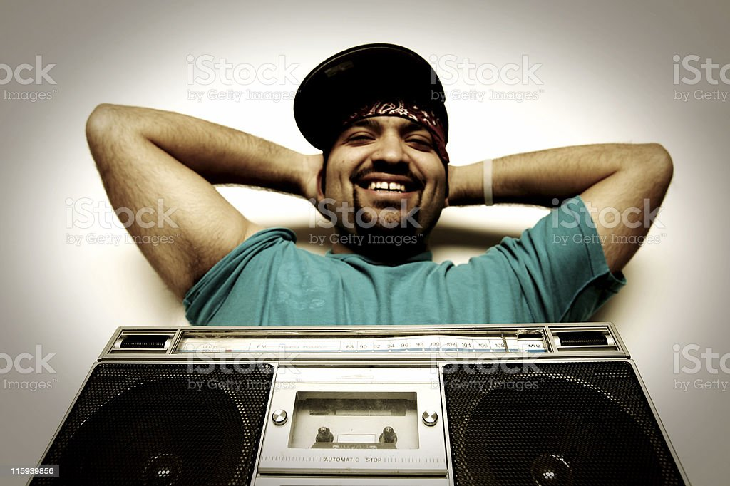 boom box (he laughs at you) royalty-free stock photo