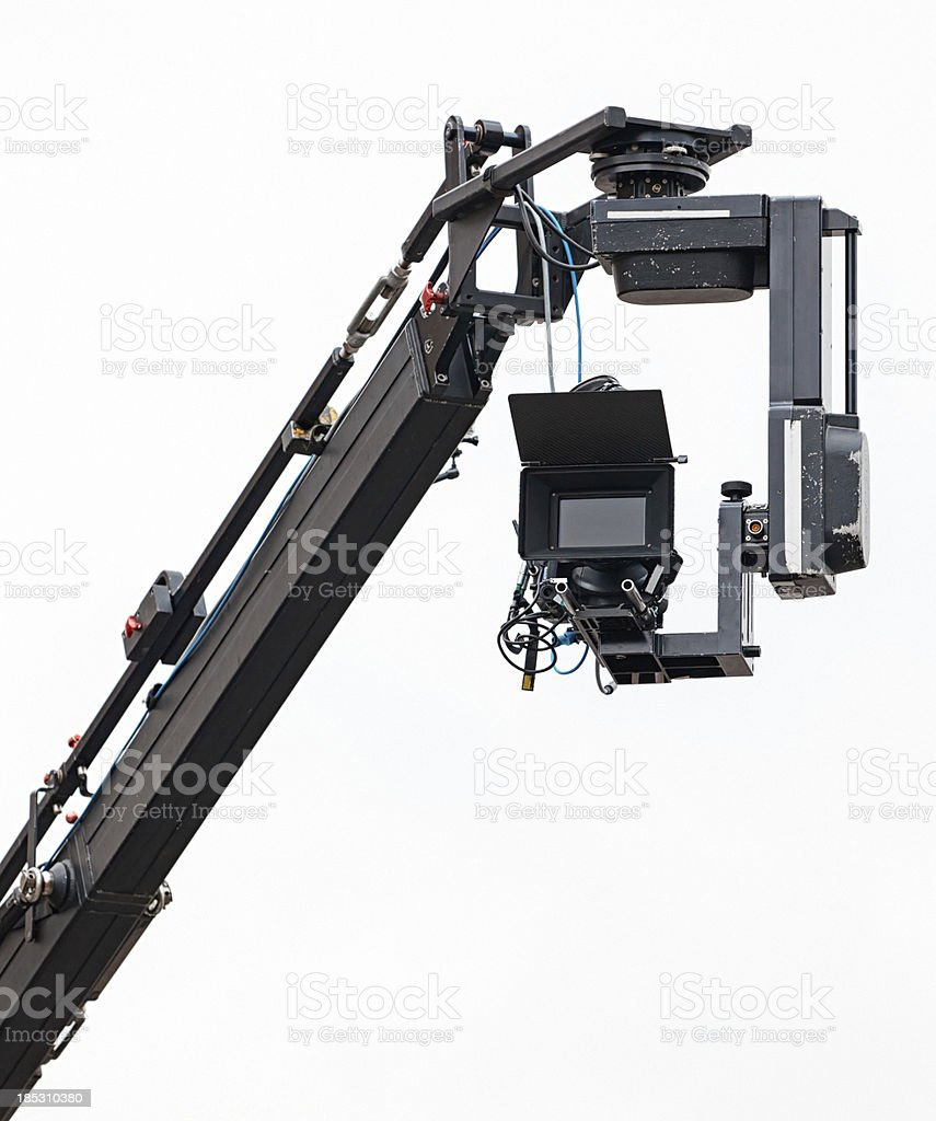 Boom Camera and Live Television Broadcasting stock photo