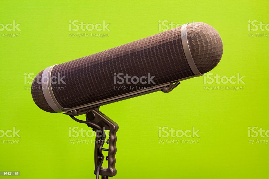 boom microphone with windshield royalty-free stock photo