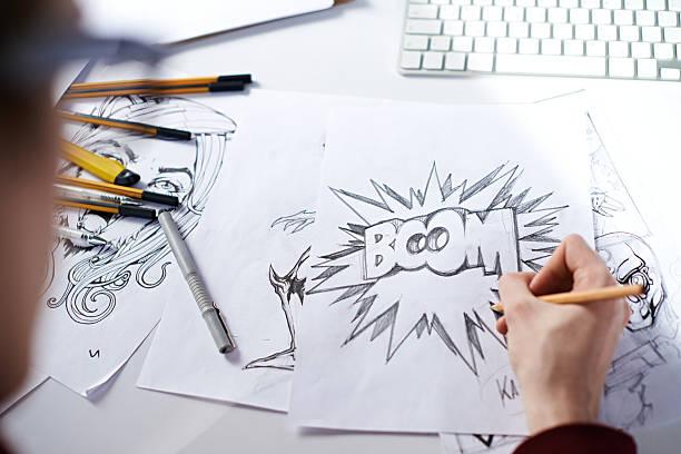 boom! - comic stock-fotos und bilder